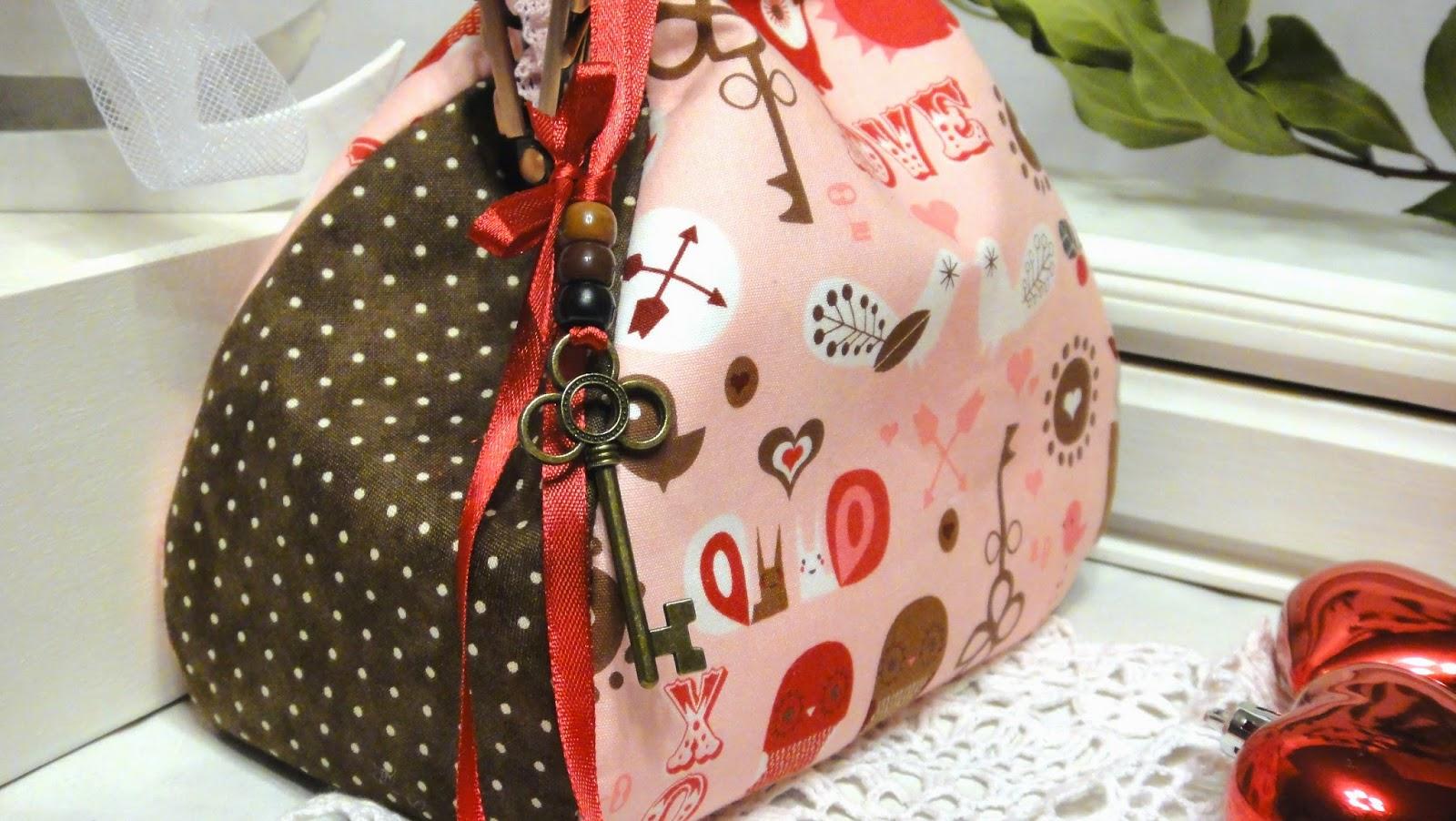 Косметичка для девочки с ключиком Винтажный ключик - подвеска.