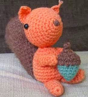Ardilla, Squirrel, Amigurumi