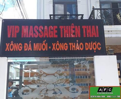 Thiết kế thi công biển led Massage Thiên Thai Phú Quốc