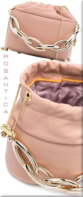 Rosantica pink leather crossbody bag #bags #eveningbags #rosantica #brilliantluxury