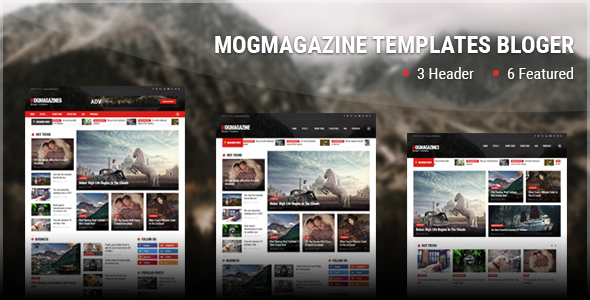 Mog Magazine V2.0 Original Blogger Template