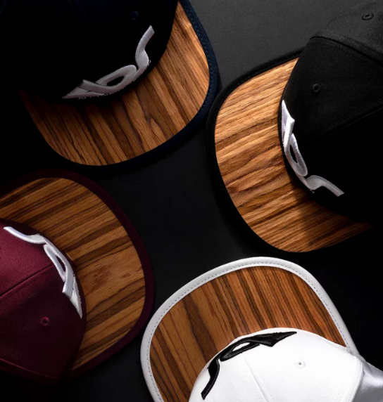 custom snapback hats made of wood