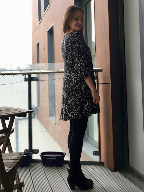 Diary of a Chain Stitcher: Dotty Viscose Sew Over It Nancy Dress