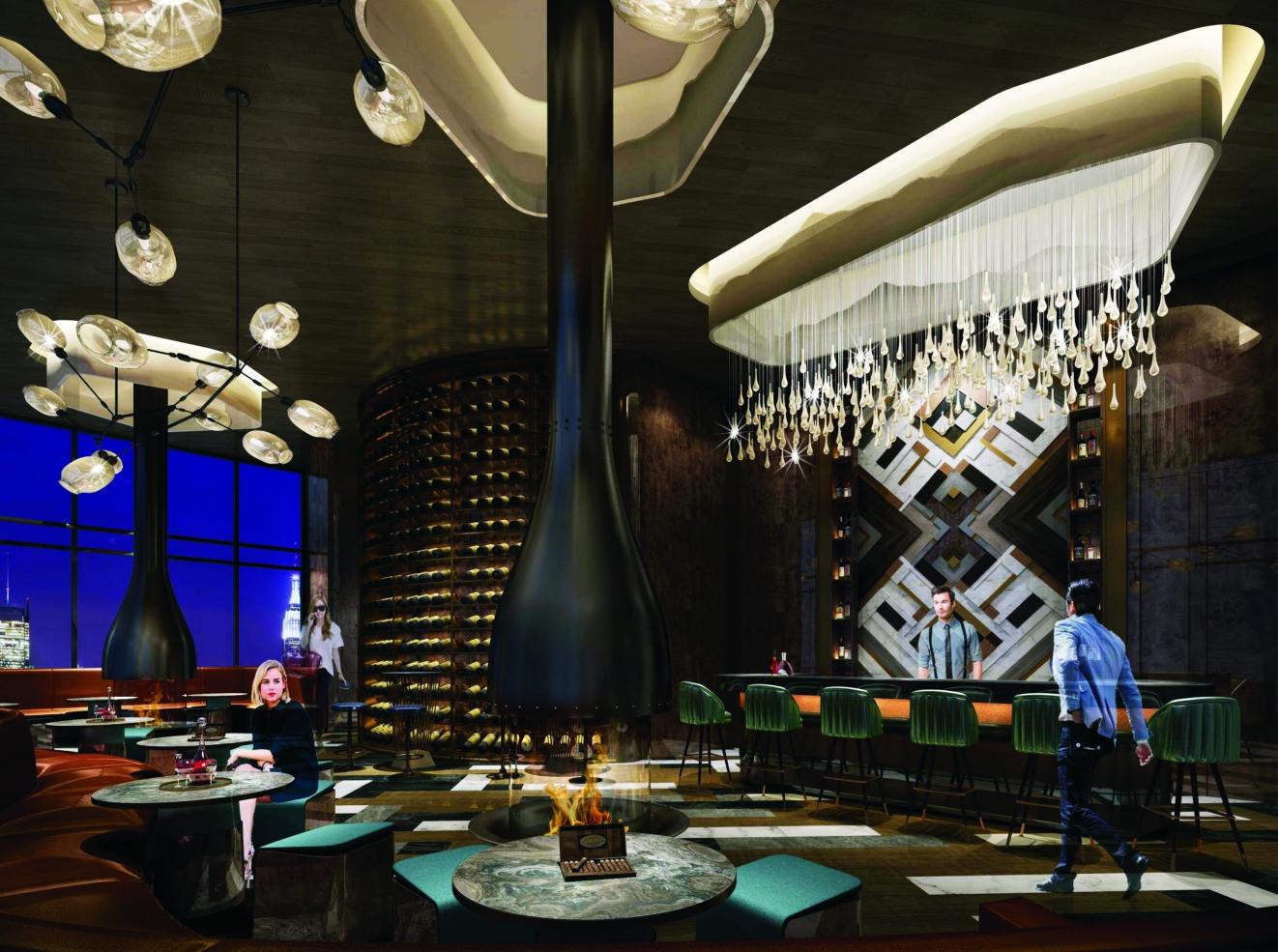 Bar trong nhà La Luna Resort