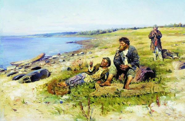 Маковский Владимир Егорович - На Волге. 1897