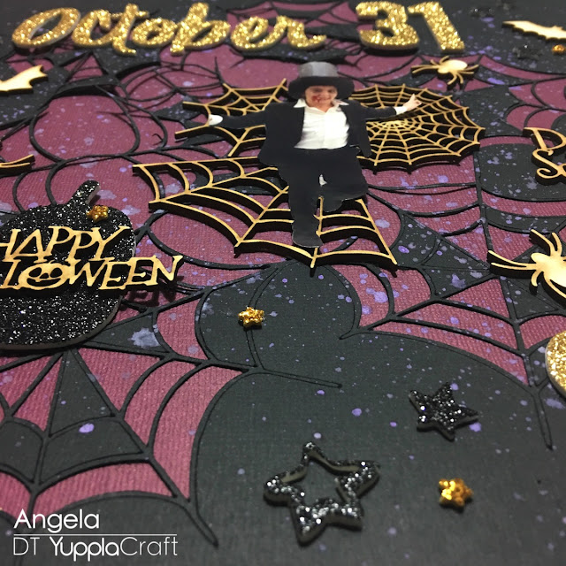October, 31 Scrapbook Layout by Angela Tombari for Yuppla Craft DT