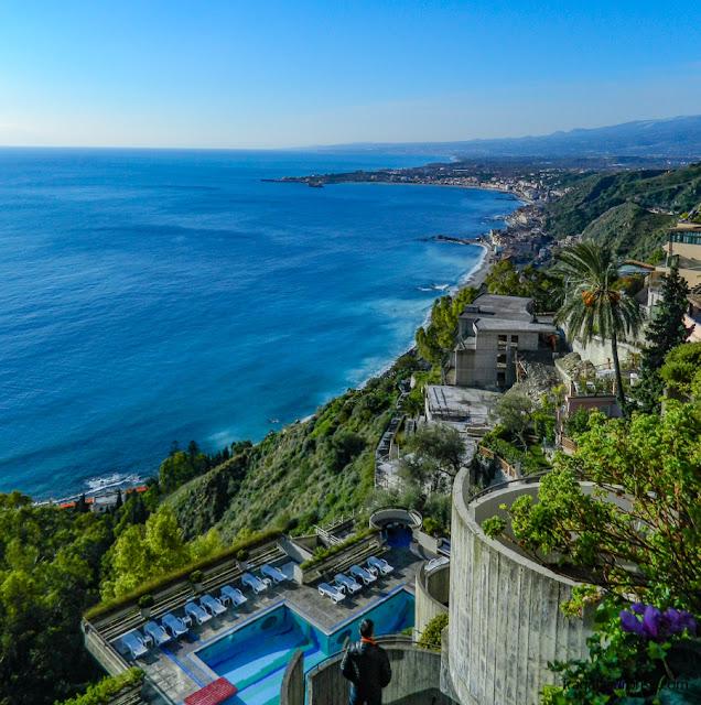 Hospedagem em Taormina: vista para o mar do Hotel Monte Tauro