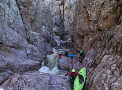 Walled in would be an understatement, photo by Evan Stafford, hell's gate, Arizona Christopher Creek AZ, WhereIsBaer.com Chris Baer, kayak walled in chaos,