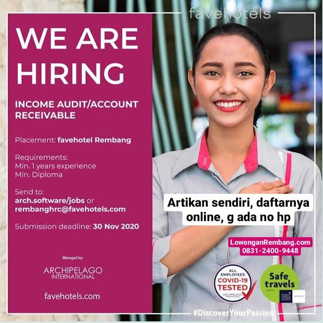 Lowongan Kerja Income Audit / Account Receivable Fave Hotel Rembang