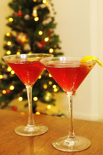 Cranberry-Pomegranate Cosmopolitans