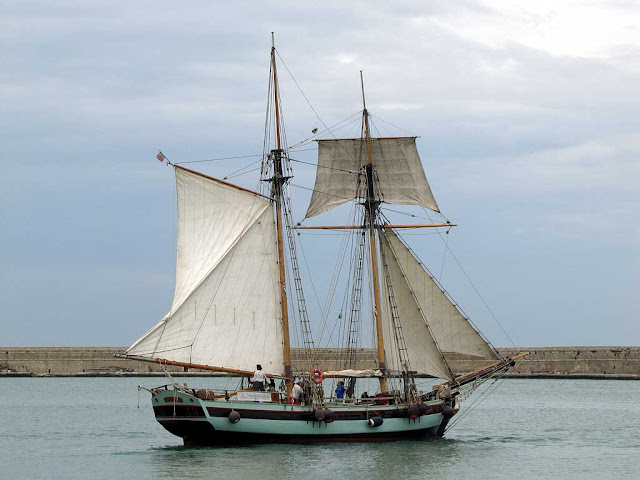 Sail ship Pandora, port of Livorno
