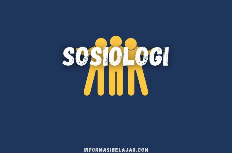 Sosiologi sebagai Ilmu Masyarakat