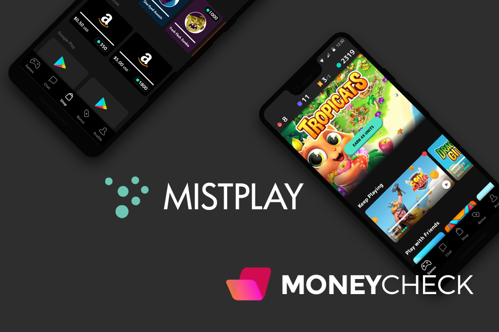 The Mistplay app is accessible from the Google Play Store via Android devices