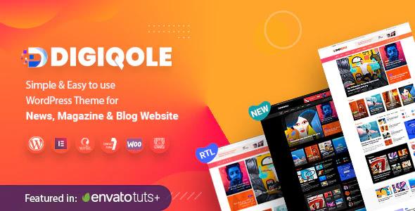 Best WordPress Theme For News Magazine|Digiqole