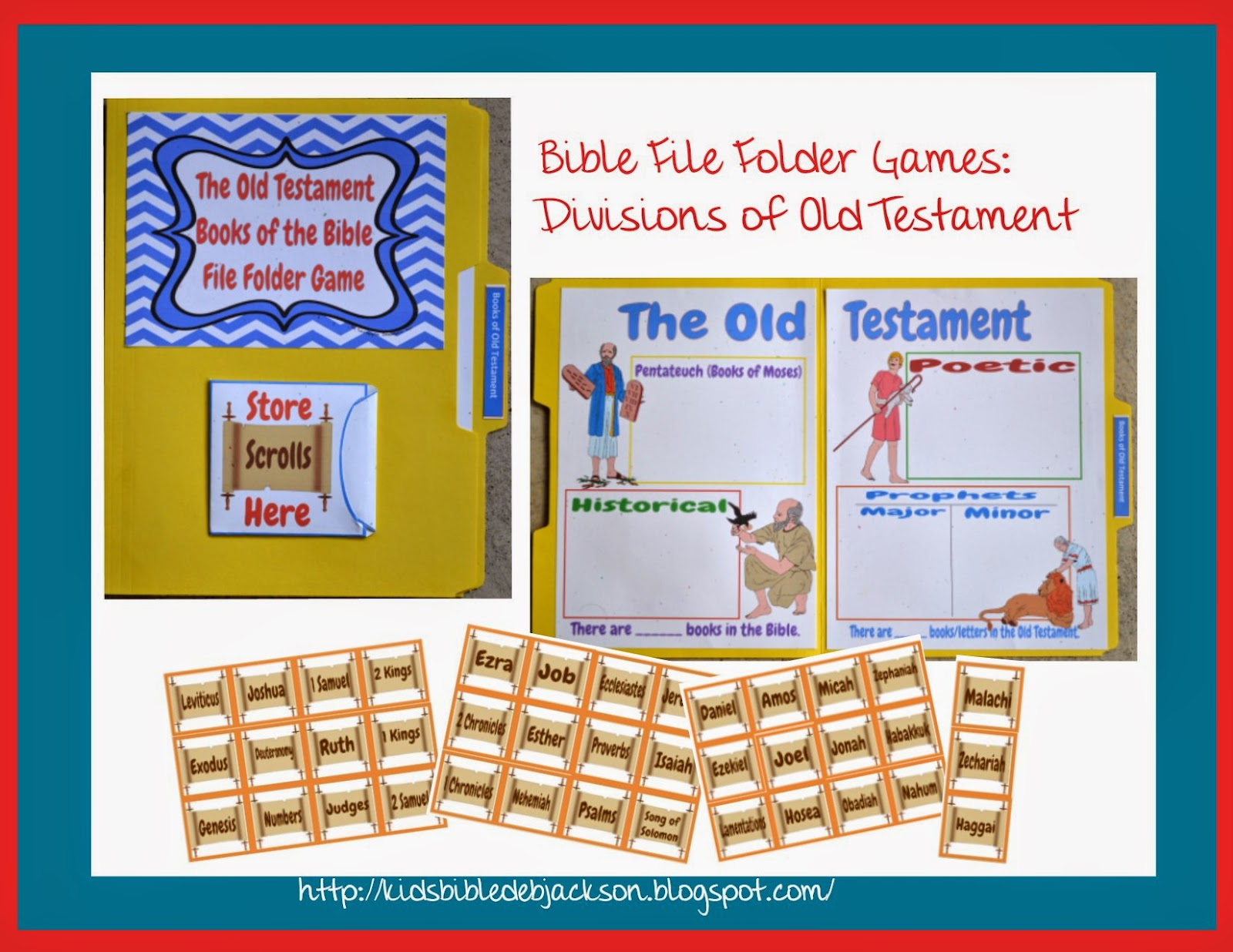 Bible Fun For Kids Bible File Folder Games