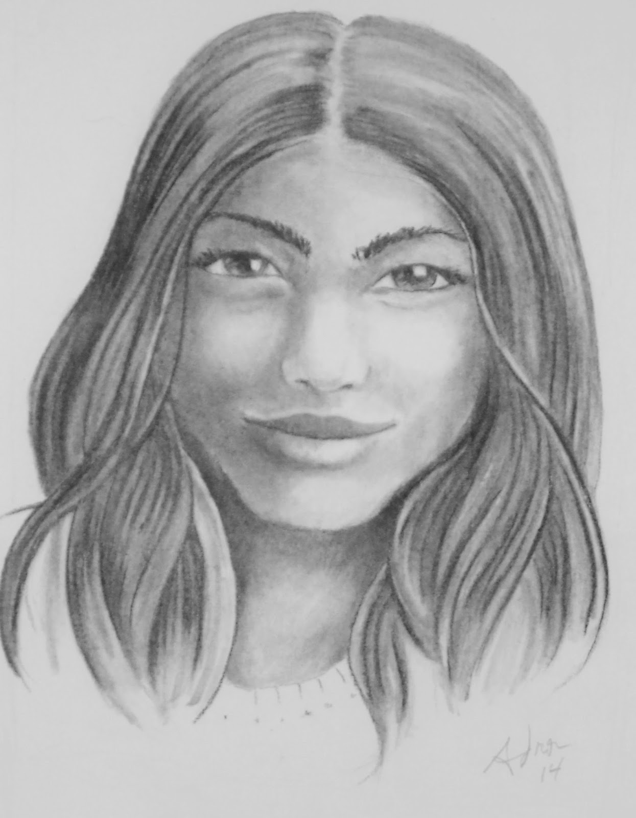 Portraits By Adron Charcoal Portrait Of The Island Girl