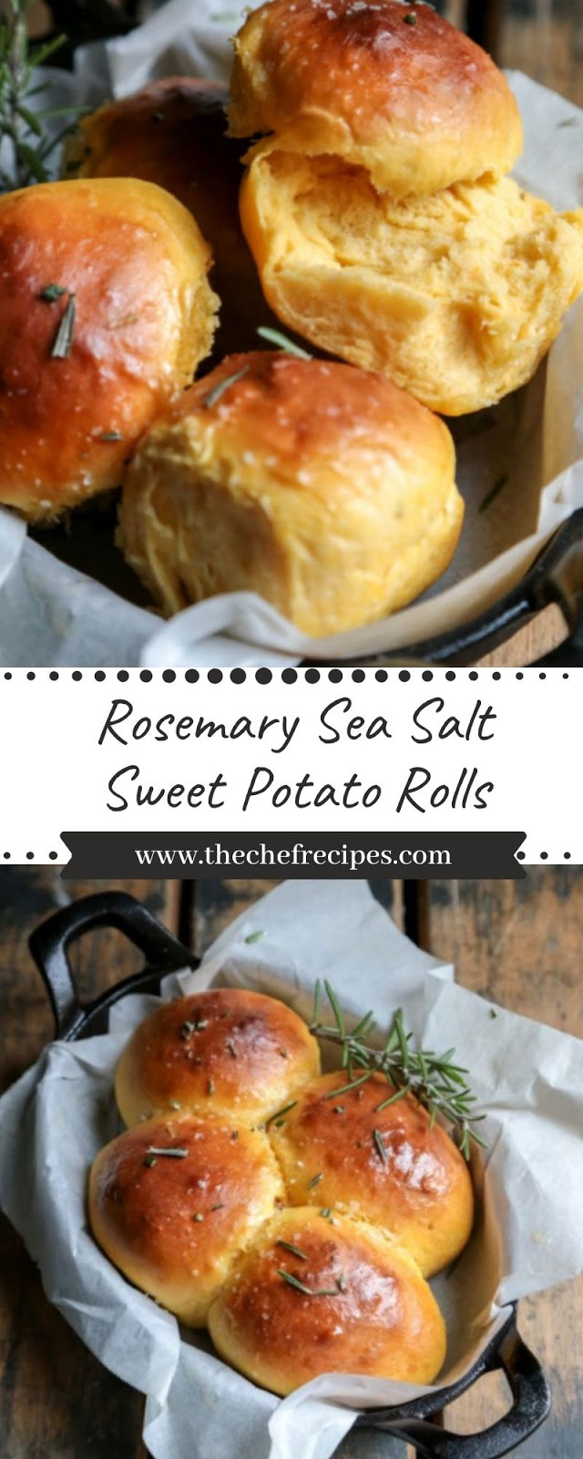 Rosemary Sea Salt Sweet Potato Rolls