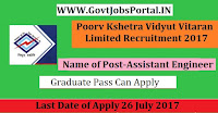 Kshetra Vidyut Vitaran Limited Recruitment 2017–Assistant Engineer