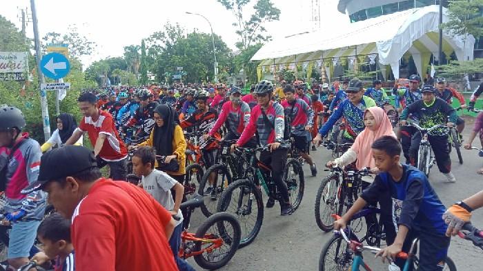Wabup Sinjai Lepas Ratusan Goweser Fun Bike 2020