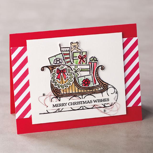 carte avec le jeu Traîneau de Noël Stampin' Up!