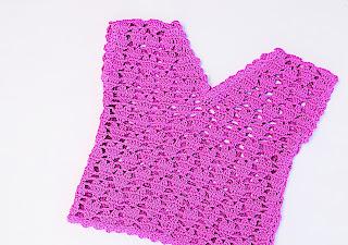 5 - Crochet IMAGEN Blusa para niña con puntada de corazones. MAJOVEL