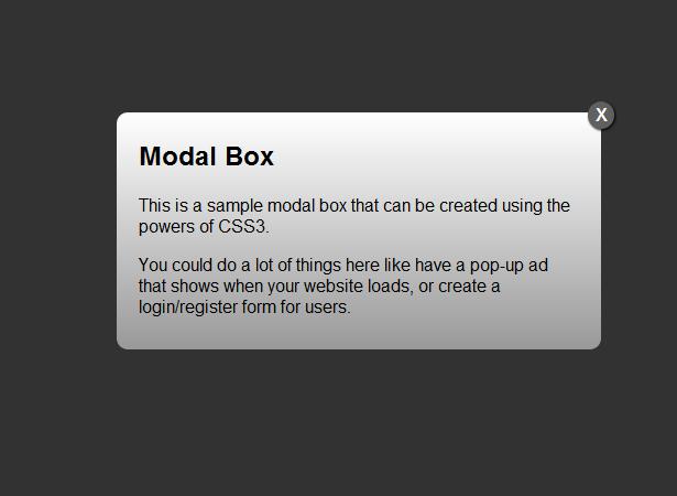 Modal Box/ Pop Up Window for blogger