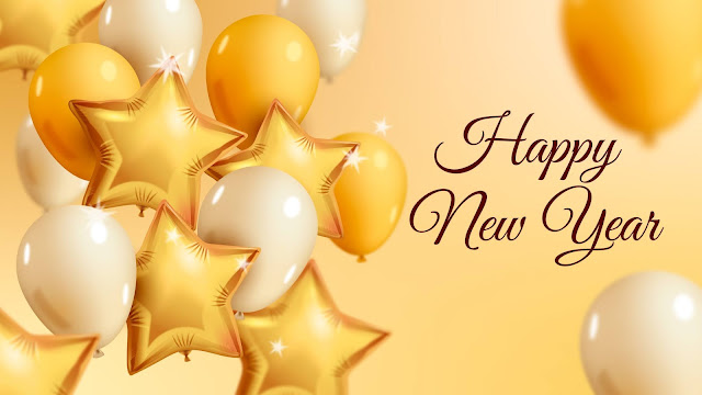 Happy New Year balloons background