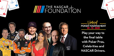 The #NASCAR Foundation's Betty Jane France Memorial 'High Speed Hold 'Em Poker Tournament'