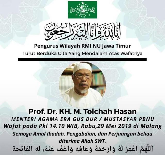 Innalillahi, Ulama Besar NU 'Kiai Tolchah Hasan' Tutup Usia