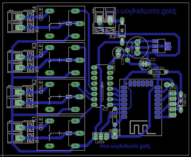IOT Based Home Automation PCB layout