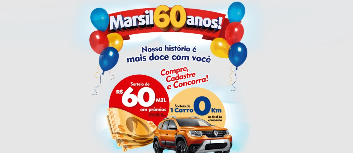 Participar Aniversário 60 Anos Marsil 2021 Atacadista - Cadastrar