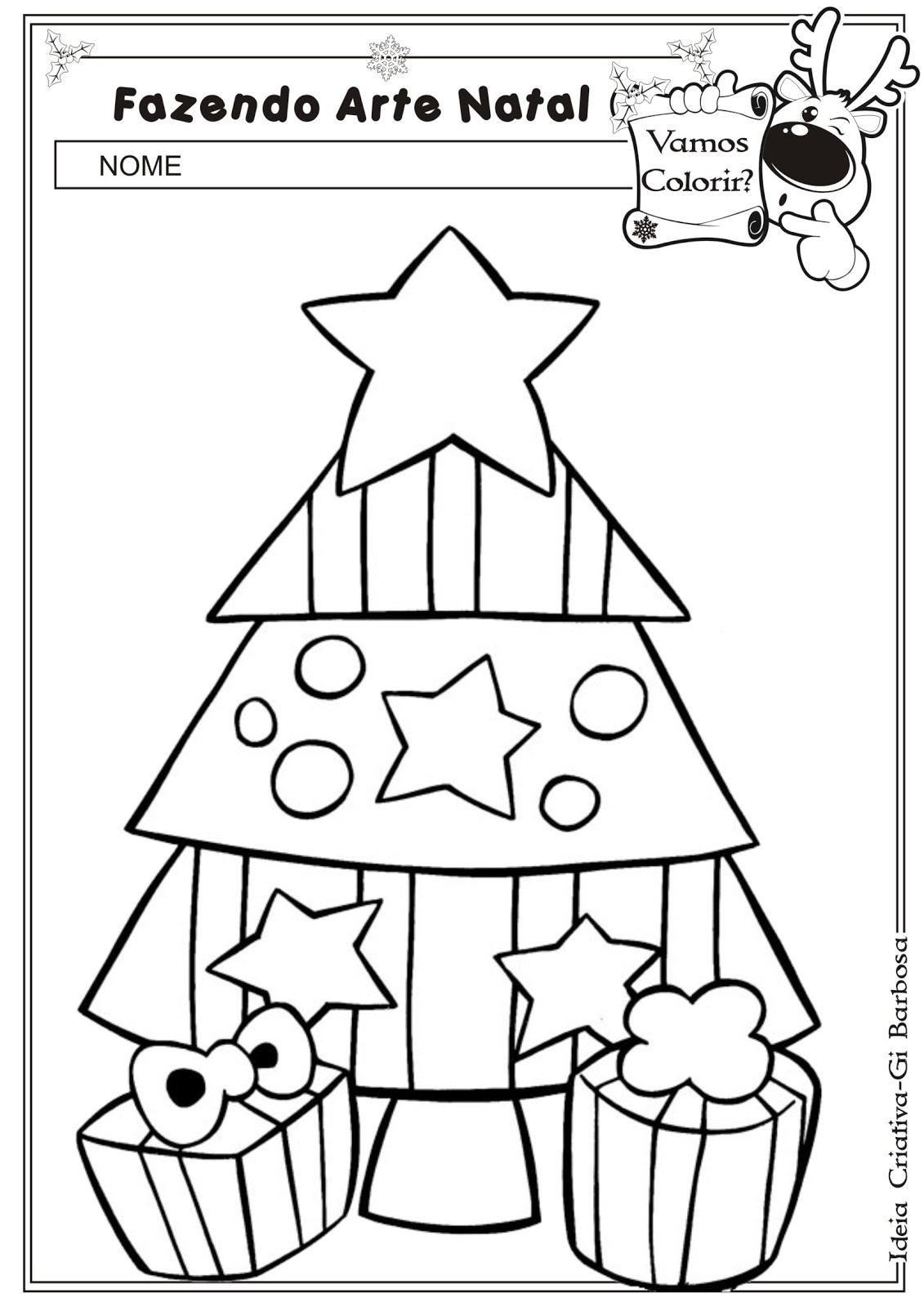 imagens do pinheirinho do natal para colorir