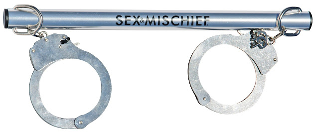 Sex & Mischief Spreader Bar with Metal Cuffs at The Spot
