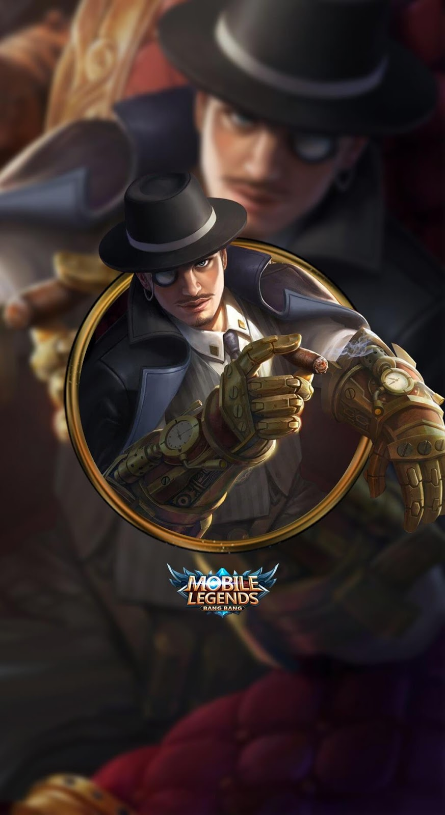 Wallpaper Roger Dark Gent Skin Mobile Legends HD for Mobile