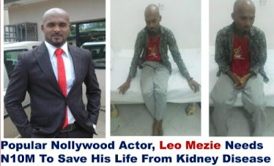 NOLLYWOOD ACTOR LEO MEZIE LOSES THE USE OF HIS RIGHT LEG