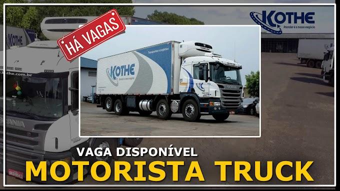 Transportadora Kothe abre vagas para motorista truck