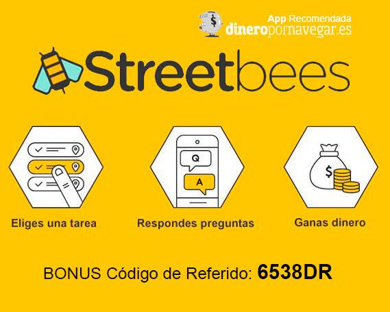 Streetbees App para ganar dinero con tareas y encuestas
