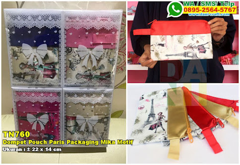 Dompet Pouch Paris Packaging Mika Motif