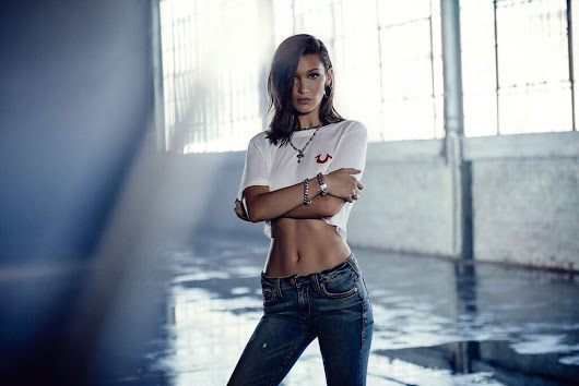 Bella Hadid True Religion Fashion Campaign