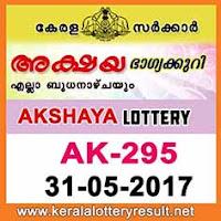 Akshya Lottery AK-295 Results 31-5-2017