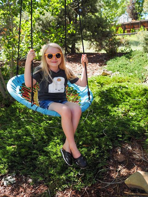 Lola on swing