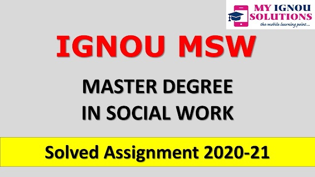 MSW Solved Assignment 2020-21