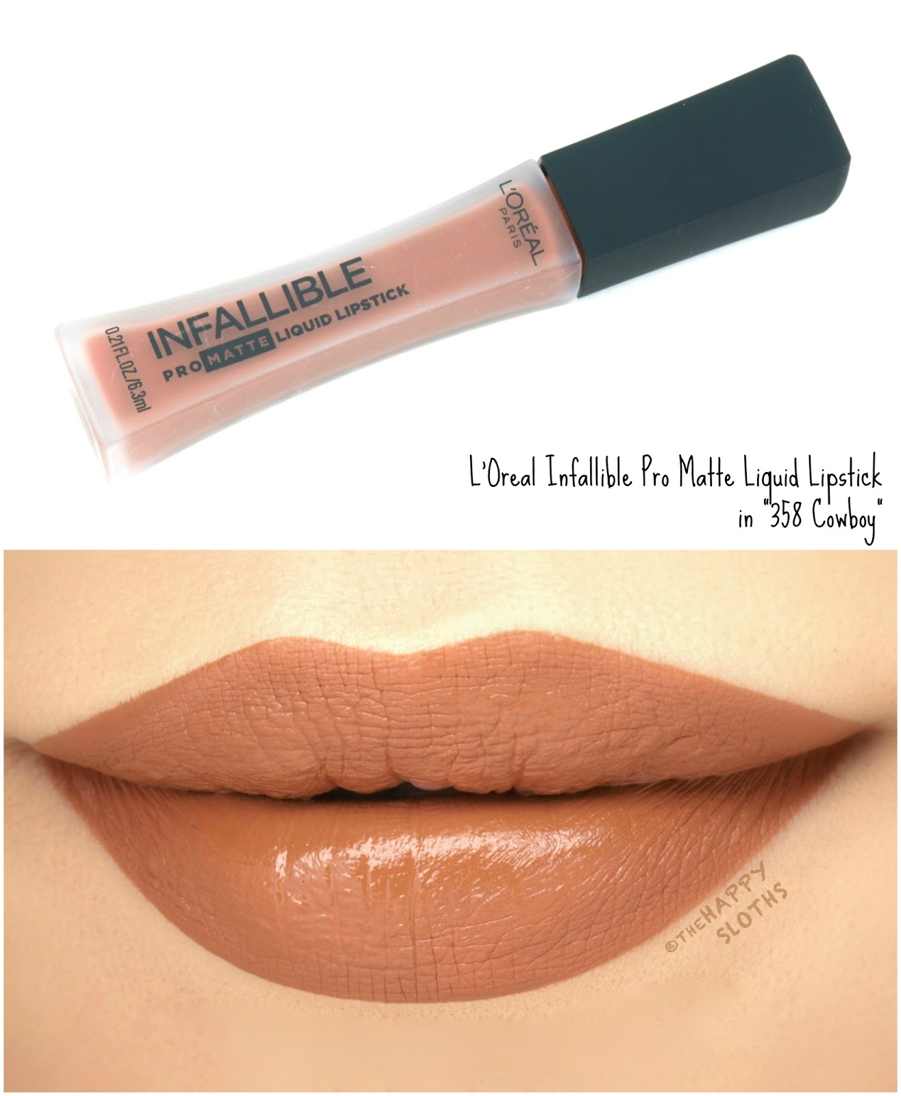 "L'Oreal Infallible Pro Matte Liquid Lipsticks ""358 Cowboy"": Review and Swatches"