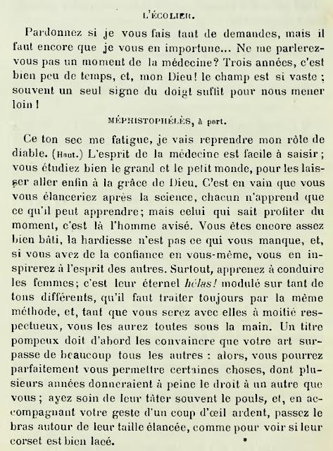 Dans Faust de Goethe, le diable Méphistophélès a une piètre opinion de la femme