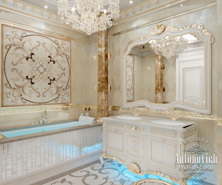 Luxury antonovich design uae for Bathroom design uae