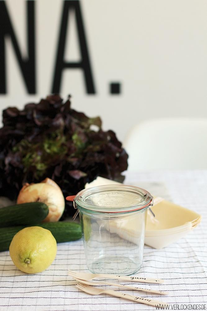 Ideen zur Salataufbewahrung im freien Schule Job