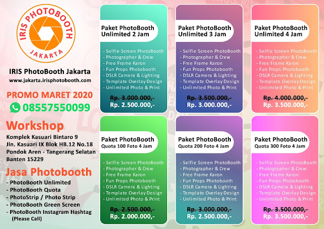 Paket Pricelist PhotoBooth Promo Maret 2020