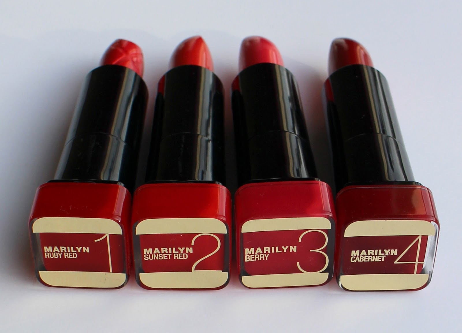 Max Factor Marilyn Monroe Lipsticks Review Amp Swatches