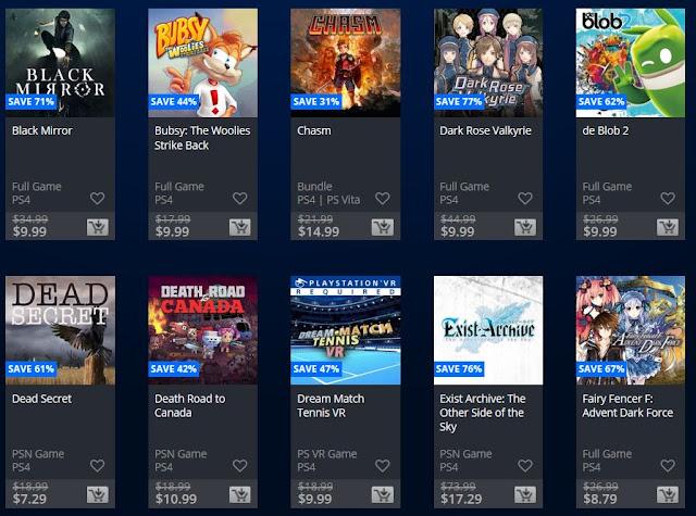 تخفيضات رهيبة تنطلق الأن على متجر PlayStation Store و ألعاب بأقل من 6 دولار