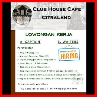 Captain dan Waiters Club House Cafe Citraland